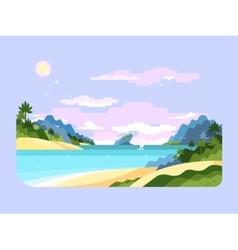 Beach flat design vector