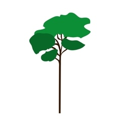 Green tree icon vector