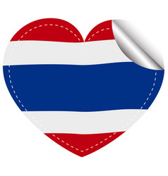 sticker template for thailand flag vector image