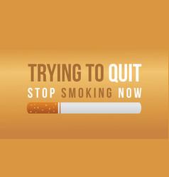 background stop smoking no tobacco day vector image