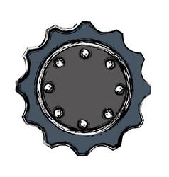 Bike gears design vector