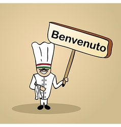 Welcome to italy people vector image