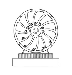 Perpetual motion machine engraving vector