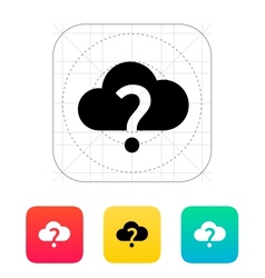 Unknown weather icon vector