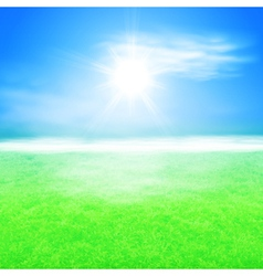 Summer sunshine background vector