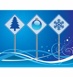 Christmas signs vector image