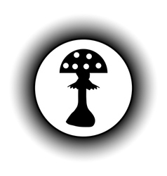Amanita button vector
