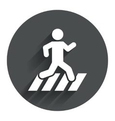 Crosswalk icon crossing street sign vector