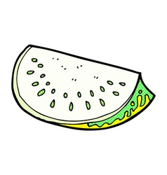 Comic cartoon melon slice vector