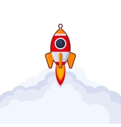 Launch rocket icon on white background vector