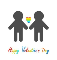 Happy valentines day love card gay marriage pride vector