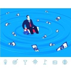 teamwork Businessman and vector image