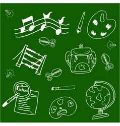 School doodles collection stock vector