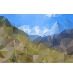 Abstract polygonal landscape vector image