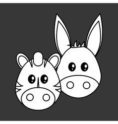 Animal face design cartoon icon vector