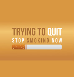 Background stop smoking no tobacco day vector