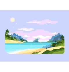 Beach flat design vector image