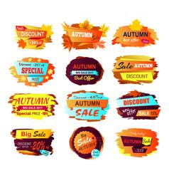 best discount autumn sale vector image