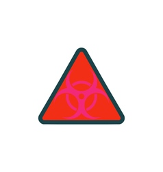 Bio hazard icon vector