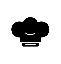 cook hat icon black sign on vector image