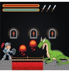 Dragon and videogame design vector
