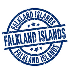 Falkland islands blue round grunge stamp vector