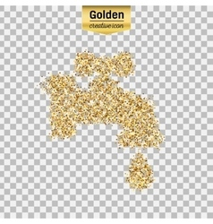 Gold glitter object vector image