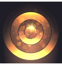Golden circular backround vector