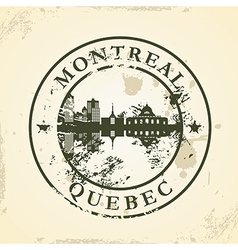 Grunge rubber stamp with Montreal Quebec vector image