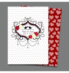 invitation card eps10 a4 vector image vector image