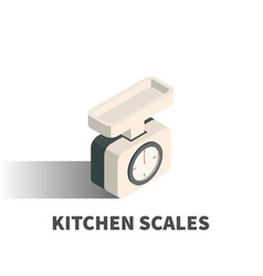 kitchen scales icon symbol vector image vector image