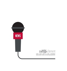 Microphone with a wire vector image vector image