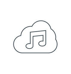 Music storage icon vector