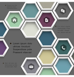 New design hexagons background for website vector