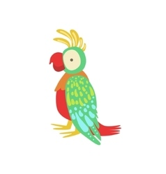 Parrot Stylized Childish Drawing vector image vector image