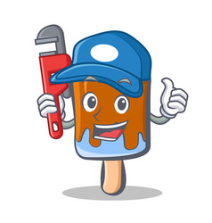 Plumber ice cream character cartoon vector