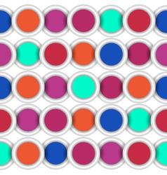 Seamless circles vector image vector image