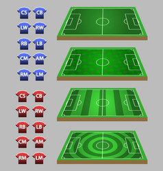 soccer strategy graphic element vector image