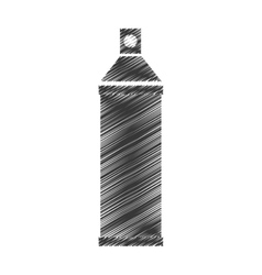 Spray paint bottle isolated icon vector