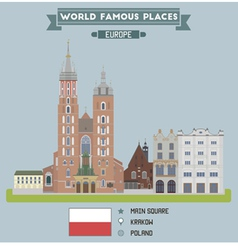 Square Krakow vector image vector image