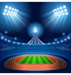 Stadium background summer games 2016 vector