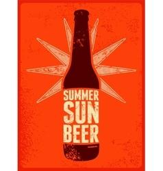Summer Sun Beer Retro grunge beer poster vector image vector image