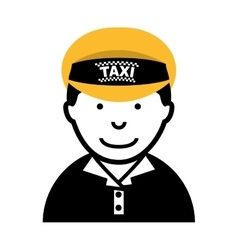taxi driver worker icon vector image vector image