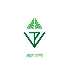 Vegan power - lettering for labels logos badges vector