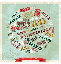 Vintage Happy New year 2013 bauble vector image