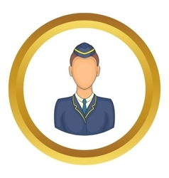 Woman train conductor icon vector