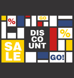Discount poster with cool design vector