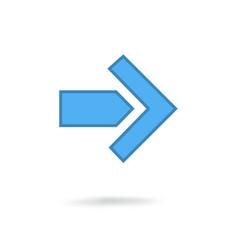 Modern arrow icon vector