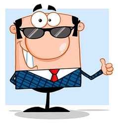 Cool teacher with glasses vector