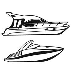 Luxury Yacht vector image